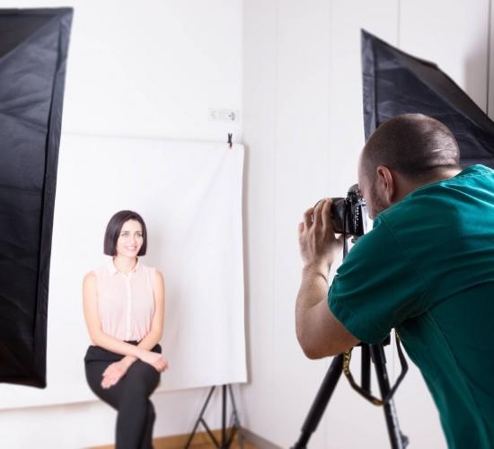 Sala fotografica presso la Clinica Marchetti di Morbegno